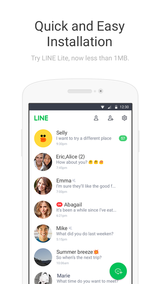 LINE Lite: Free Messages Latest Version Review for Android